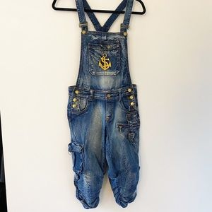 Juicy College Y2K  jean overall shorts/capri